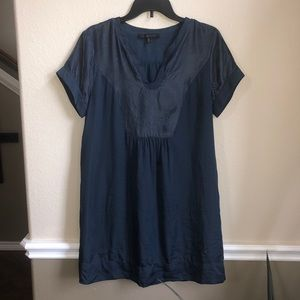 Forest Lily dark blue teal tunic shift dress
